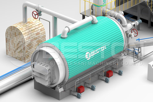 Beston Tyre Pyrolysis Plants with Reasonable Price